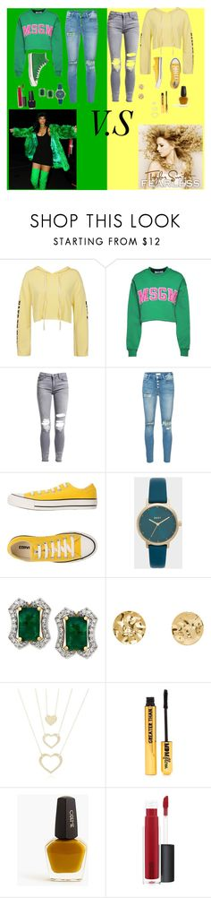 """Untitled #15"" by kwtk9620 ❤ liked on Polyvore featuring Sans Souci, MSGM, AMIRI, Mother, Converse, Nasty Gal, J.Crew, John Lewis, Versace and men's fashion"