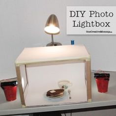 DIY Photo Lightbox Tutorial from OneCreativeMommy.com--grow your blog with better pictures! Genius!!! #lightbox#photography