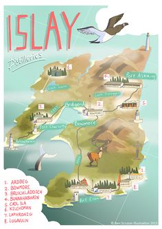 "scotianostra: "" Islay Whisky Map """