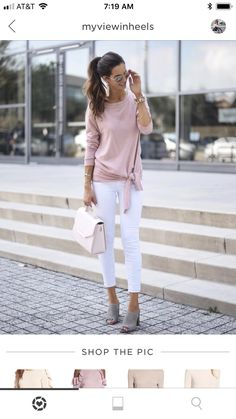 51 Simple & Charming Outfit Ideas For Spring in 2019 - CharMino Spring Outfits, Trendy Outfits, Fashion Outfits, Love Fashion, Spring Fashion, Womens Fashion, Sweaters And Jeans, Casual Wear, Street Style