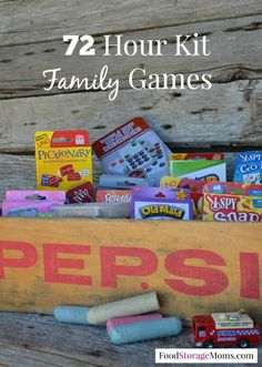 72 Hour Kit Family Games by Food Storage Moms