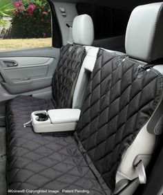 Split Rear Back Seat Cover - Hammock Option - Black XL