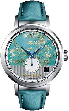 Women's Classic Leather Strap Watch Van Gogh Swiss Watches Men's Watch with Geneva Striped and Small Seconds,Replica Van Gogh Three-Dimensional Oil Painting Simple Watches, Cute Watches, Retro Watches, Cheap Watches, Vintage Watches, Watches For Men, Women's Watches, Latest Women Watches, Louis Vuitton Watches