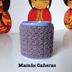 Funda para taza a crochet Tapestry, Mugs, Tableware, Cotton, Weaving, The Creation, Lets Go, Cases, Crocheting
