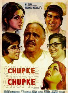 Chupke Chupke - Cast - Amitabh Bachchan, Dharmendra, Sharmila Tagore, Om Prakash, Asrani, Jaya Bhaduri. Light hearted movie. Bet to put a smile on your face :)