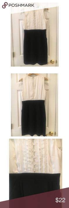 Democracy Tuxedo Dress Size 4 Fits true to size. Looks brand new. Dress has beautiful detail and comes with pockets.   Shell: % Polyester Lining 100% Acetate Dry Clean Only Democracy Dresses