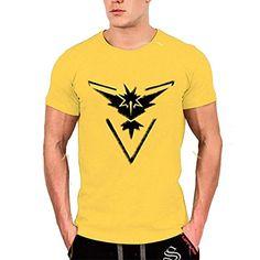 Pokemon Go Team Valor Equipo Mystic equipo instinto Pokeball la camiseta Top Impresión gráfica de cuello redondo #camiseta #realidadaumentada #ideas #regalo