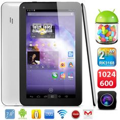 """Dual Core A9 1.2GHz Android 4.2 Tablet 8GB 7"""" 1024x600 U25GT OTG Camera WIFI TF"""