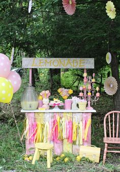 Country Lemonade Stand party