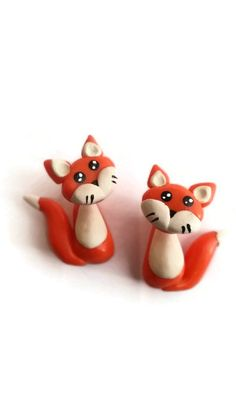 Fox double sided completely handcrafted polymer by CraftsbySash