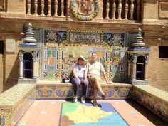 Descansando en Pz. España de Sevilla