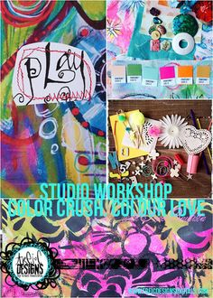 art journal PLAY date studio workshop with traci bautista: colorCRUSH.colourLOVE