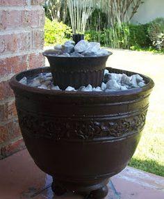 Another cool DIY flower pot fountain