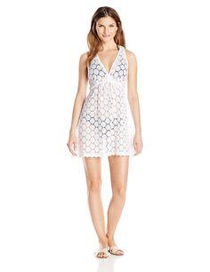86107b948c J. VALDI Women s Circles V-Neck Dress with Tie Cover up