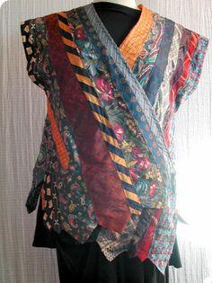 moRphed Tie Vest Kimono style by missmorph on Etsy