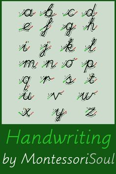 In grade school we learned how to write in cursive. I liked learning ...