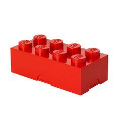 Lego lunch box big, red, by Room Copenhagen.
