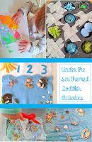 Toddler ocean scene DIY activity and free Montessori inspired printables