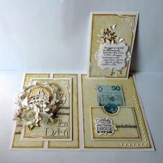 kartkulec: MOTYLE... NIEKONIECZNIE W BRZUCHU - внутри Fancy Fold Cards, Folded Cards, Cardmaking, Projects To Try, Decorative Boxes, Inspiration, Frame, Crafts, Scrapbooking