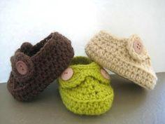 Crochet Dreamz: Boy's Moccasins Crochet Baby Booties Pattern ( pdf pattern for sale ) Crochet Booties Pattern, Newborn Crochet Patterns, Crochet Baby Booties, Crochet Slippers, Easy Crochet Patterns, Baby Slippers, Knitted Booties, Doll Patterns, Love Crochet