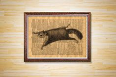 Flying squirrel print Animal poster by CrowDictionaryPrints