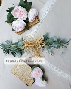 """21"""" Lambs Ear Greenery Swag Wreaths For Front Door, Door Wreaths, Farmhouse Style Decorating, Farmhouse Decor, Lambs Ear, Shabby Chic Homes, Sunroom, Fixer Upper, Home Projects"""