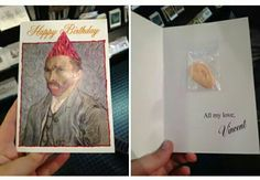 Vincent Van Gogh birthday card