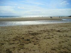 Saint Bee's beach in the summertime UK