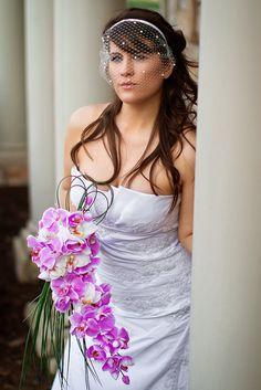 Jasmine - Beautiful Cascading Orchid Bridal Bouquet