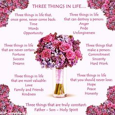 Three Things In Life ...