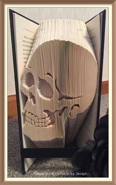 Simple Skull. Book Folding Pattern by JHBookFoldPatterns on Etsy