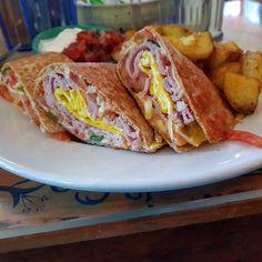 #BreakfastQuasadilla #BlueFoxCafe #ScrambledEggs #Ham #VictoriaBC #Canada #Breakfast #EatCanada Tacos, Mexican, Canada, Dishes, Breakfast, Ethnic Recipes, Food, Hama, Morning Coffee