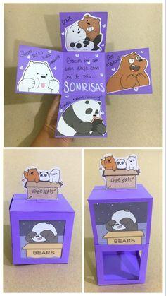 Birthday Gifts For Boyfriend Diy, Cute Boyfriend Gifts, Bff Birthday Gift, Birthday Cards, Diy Crafts For Gifts, Paper Crafts, Diy Gift Box, Diy Cards, Diy For Kids