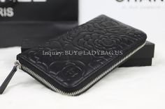 Chanel 50087 Long Zipped Wallet in camellia-embossed lambskin Dimension: 20CM*12CM*2CM Price:USD255 inquiry: buy@ladybag.us Code:50087 Color:black Leather: camellia-embossed lambskin Website: http://www.ladybag.us/ #chanelwallet #chanel #chanelbag