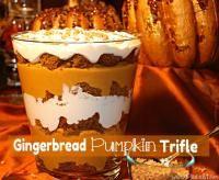 Gingerbread Pumpkin Trifle on MyRecipeMagic.com #trifle #gingerbread #pumpkin