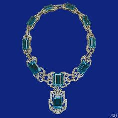 Artemisia Royal Joyas: Joyas Real Británica: Parure brasileño Reina Aquamarine y Tiara