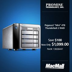 Save $100 on a 4TB Promise Pegasus2 mini storage RAID at MacMall.
