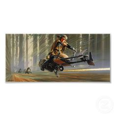 Star Wars Art - Endor Speeder Chase by Ralph McQuarrie (click photo for more info)