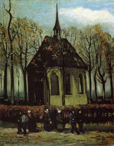 Chapel at Nuenen , 1884, by Vincent van Gogh