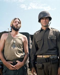 Donald Sutherland (Oddball) & Clint Eastwood (Kelly)...Kelly's Heroes