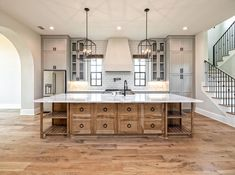 My favorite room in the house! decoration idea/ideas for your kitchen with my favourite design styles: French / Vintage / Industrial / Beachy / Shabby Chic Modern Farmhouse Kitchens, Farmhouse Chic, Rustic Kitchen, New Kitchen, Kitchen Decor, Kitchen Ideas, Eclectic Kitchen, Kitchen Hacks, Awesome Kitchen