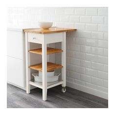Great for some extra storage and work area in a tiny kitchen. STENSTORP Kitchen cart  - IKEA