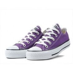 Size 9-Converse Shoes Purple Chuck Taylor All Star Classic Low - Converse Shoes…