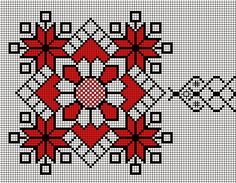 cusaturi traditionale romanesti - Google Search Cross Stitch Borders, Cross Stitch Flowers, Cross Stitch Designs, Cross Stitch Patterns, Cross Stitch Needles, Cross Stitch Embroidery, Embroidery Patterns, Hand Embroidery, Mochila Crochet