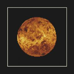 Venus Cross Stitch Pattern PDF  Planet Solar by EasyStitchForFun