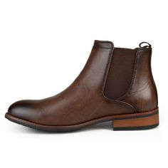 Men's Vance Co. Landon Round Toe High Top Dress Boots - Brown 6