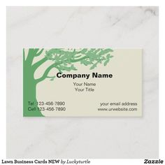 Lawn Business Cards NEW | Zazzle.com | 1000 - Modern | 1000 Lawn Care Business Cards, Company Names, Templates, Landscape, Modern, Trees, Business Names, Stencils, Scenery