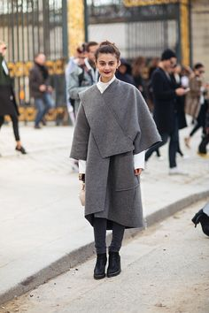 architectural coat with boots