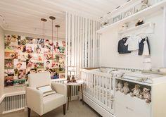 Andrea Balekian - O estilo contemporâneo tomou conta do ambiente da arquiteta Andrea Balekian, um conjunto de quarto de bebê com escritório studio para uma mãe fotógrafa que trabalha em casa. Cores neutras como o branco, bege e um toque de verde água foram utilizadas, pensando em um espaço unissex e versátil.