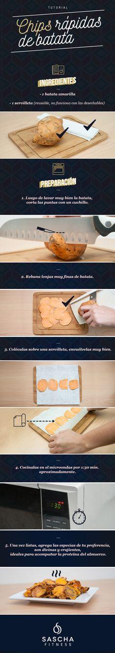 Tutorial: chips rápidas de batata